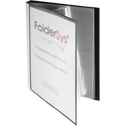 Präsentations-Sichtbuch Polypropylen A4 40 Hüllen schwarz
