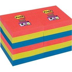 Haftnotizen Super Sticky 48x48mm Bora Bora Collection 12x90Bl