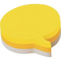 Haftnotizwürfel Sprechblasenform 70x70mm gelb ultragelb weiß 225Bl