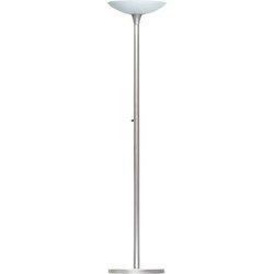 Energiespar Deckenfluter Variaglass schwenkbarer Leuchtenkopf, grau,