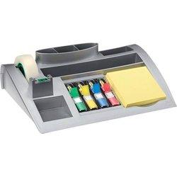 Tisch-Organizer silber inkl. 100Bl gelb Haftnotiz 35Bl Index Mini 4farben klebeband Magic matt