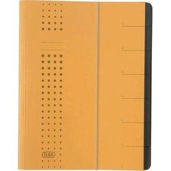 Ordnungsmappe Karton 450g A4 7-teilig gelb