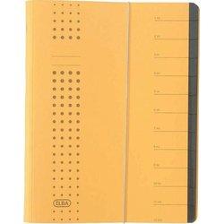 Ordnungsmappe Karton 450g A4 12-teilig gelb
