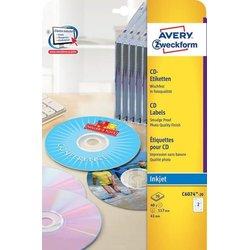 Inkjet CD-Etiketten 117mm hochglänzend 20Bl=40St.