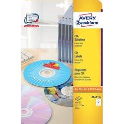 CD-Etiketten 117mm ClassicSize blickdicht weiß 25Bl=50St