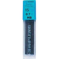 Feinminen Super-Polymer Härtegrad HB 0,7mm 15 Minen passend für alle Druckbleistifte