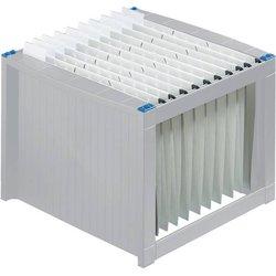 Hängeregistraturgestell Polystyrol A4 grau/blau