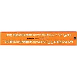 Schriftschablone Schrifthöhe 2,5mm H-Profil, ISO 3098/1B, DIN6776