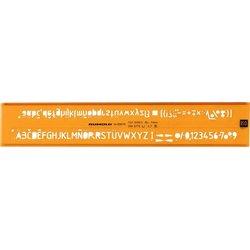 Schriftschablone Schrifthöhe 3,5mm H-Profil, ISO 3098/1B, DIN6776