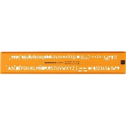 Schriftschablone Schrifthöhe 5.0mm H-Profil, ISO 3098/1B, DIN6776