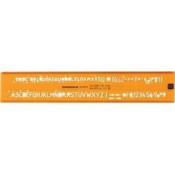 Schriftschablone Schrifthöhe 7.0mm H-Profil, ISO 3098/1B, DIN6776