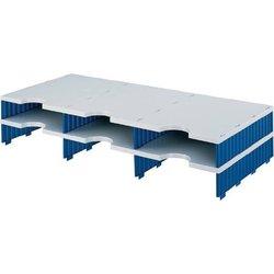 Sortierstation Polystyrol 6 Fächer grau/blau
