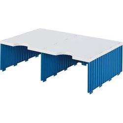 Aufbaueinheit Polystyrol 2 Fächer grau/blau