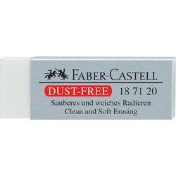 Radiergummi Dusty-free Kunststoff weiß 22x12x62mm