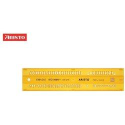 Schriftschablone Aristo 5301 gerade Schrift 2,5mm