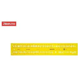 Schriftschablone Aristo 5301 gerade Schrift 7,0mm