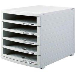 Schubladenbox B4 5Schübe offen l.gr Contur 300x382x307 mm