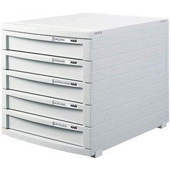 Schubladenbox B4 5 Schübe zu grau Contur 300x382x307 mm #1505-11