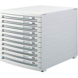 Schubladenbox B4 10 Schübe zu l.gr Contur 300x382x307 mm