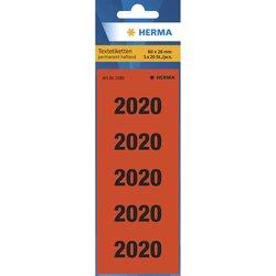 Jahreszahlen 2020 60x26mm rot 100 St.