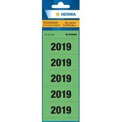 Jahreszahlen 2019 60x26mm grün 100 St.