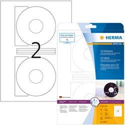 Etikett 116mm CD weiss Inkjet A4 50Et 25Bl 2Et Bl