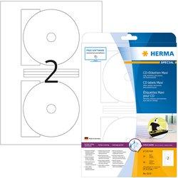CD-Etiketten Maxi 116mm blickdicht weiß 25Bl=50St