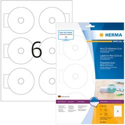 Etikett 78mm Mini CD weiss A4 60Et 10Bl 6Et Bl LaserInkCopy