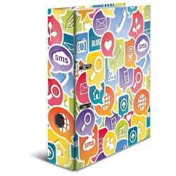 Motivordner A4 80mm Social Icons