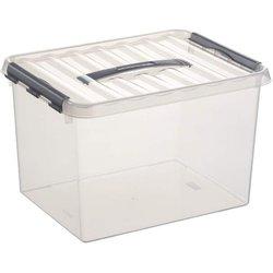 Aufbewahrungsbox Kunststoff 22L transparent