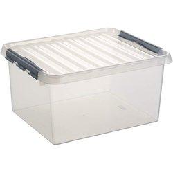 Aufbewahrungsbox Kunststoff 36L transparent