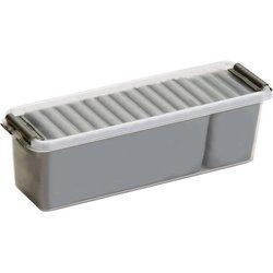 Aufbewahrungsbox Kunststoff 1,3L transparent/silber