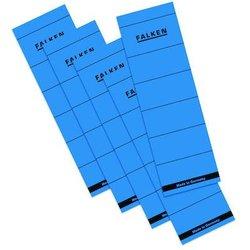 Rückenschilder kurz/breit blau 60x190mm 10 Stück