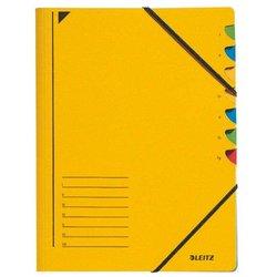 Ordnungsmappe Karton 300g A4 7-teilig gelb