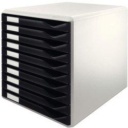 Schubladenbox A4 10 Schübe zu Formularset Farbe schwarz