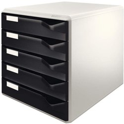 Schubladenbox A4 5 Schübe offen Postset halboffen Farbe schwarz