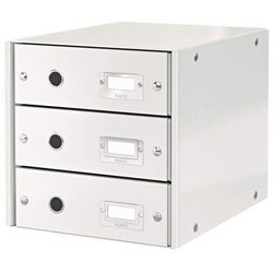 Schubladenset Leitz 6048-00-01 Click&Store 3 Schubladen weiß