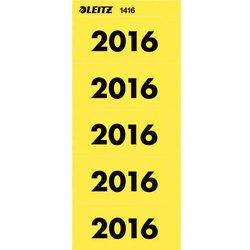 Rückenschildetiketten selbstklebend selbstklebend Jahreszahlen 2016 gelb