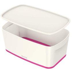 MyBox 5l, klein, m.Deckel, weiß/pink