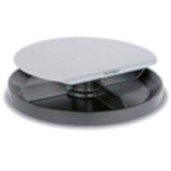 Monitorstand Spin Station, silber/schwarz, Höhenverstellbar