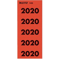 Rücken-Inhaltschild Jahreszahlen 2020 rt