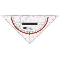 Geodreieck Kunststoff 16cm transparent in Papiertüte mit Griff