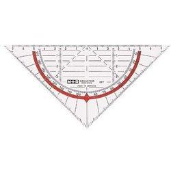 Geodreieck Kunststoff 16cm transparent in Papiertüte