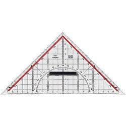 Geodreieck 25cm glasklar Skala rot hinterlegt 180° 1°45° Linie Markierte