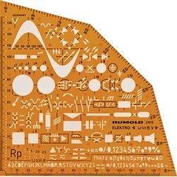 Rumold Ausbild.Schablone Elektro, orange, Symbole f.Elektroinstallation