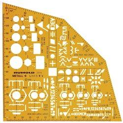 Rumold Ausbild.Schablone Metall, orange,f.Ausbildung aller Metallberufe