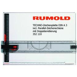 Zeichenplatte Rumold Techno A3 incl. Parallel-Zeichenschiene
