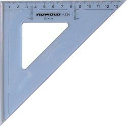 Zeichendreieck 45° 20 cm mm Teilung hochwertiger Kunststoff