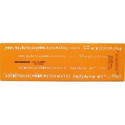 Schriftschablone Schrifthöhe 3,5mm 5mm