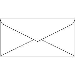 Briefumschlag DIN Lang 100g 50St weiß